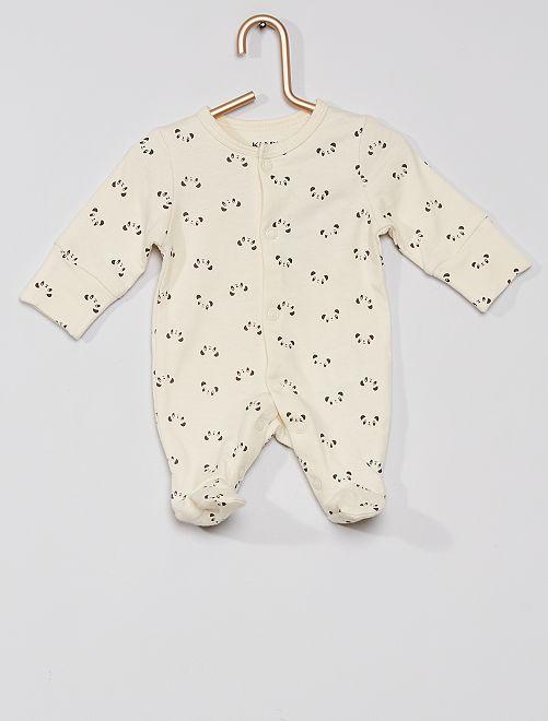 Pyjama jersey éco-conçu                                         écru