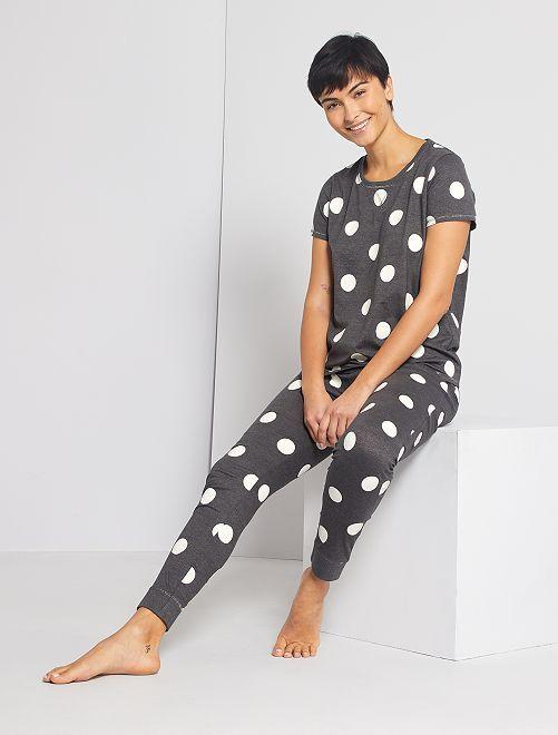 Pyjama jersey                                                                 gris foncé