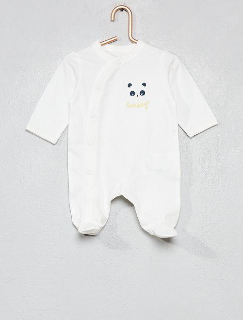Pyjama jersey imprimé                                                                             blanc panda