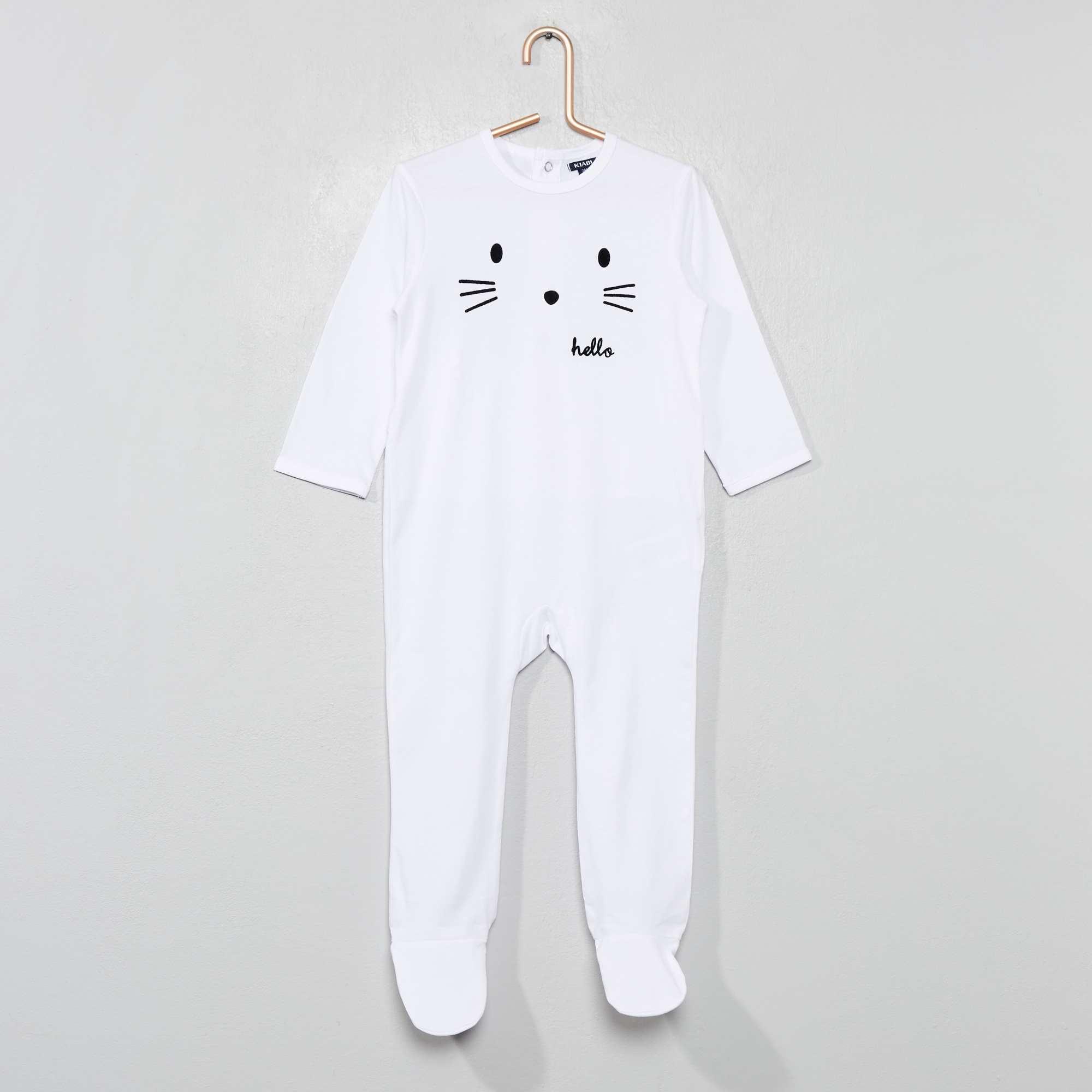 1cec6a0bf0d1e Pyjama jersey imprimé Bébé garçon - blanc hello - Kiabi - 9