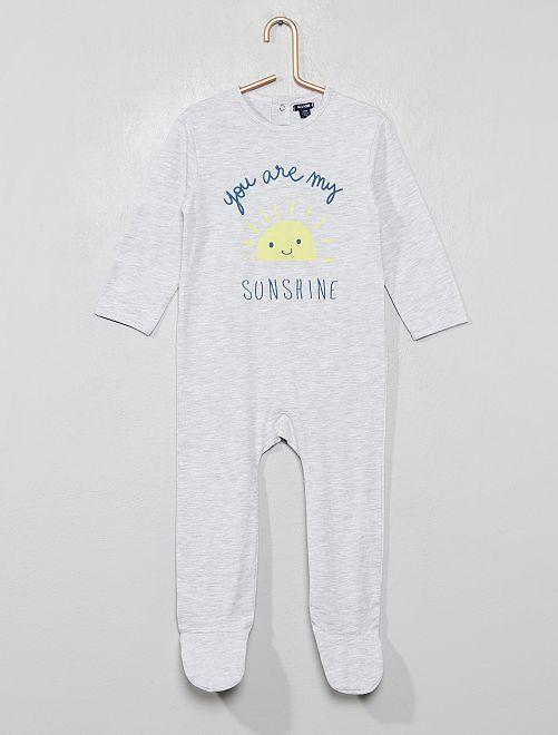 Pyjama jersey imprimé                                                                             gris/soleil Bébé garçon