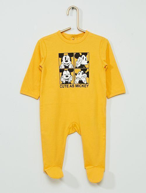 Pyjama jersey 'Mickey' éco-conçu                                         jaune