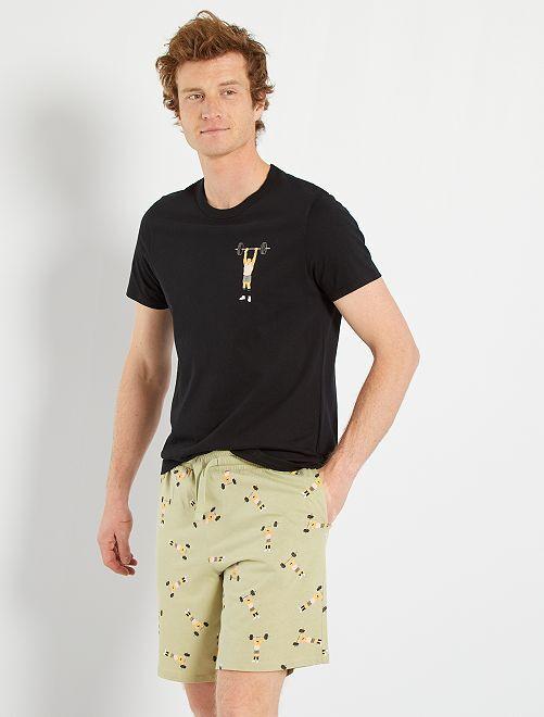 Pyjama jersey                             noir/vert