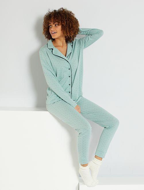 Pyjama jersey                                         vert d'eau