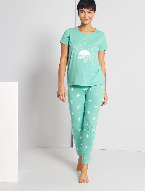 Pyjama jersey                             vert