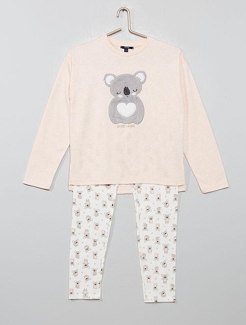 Pyjama 'koala'                             blanc/rose/gris