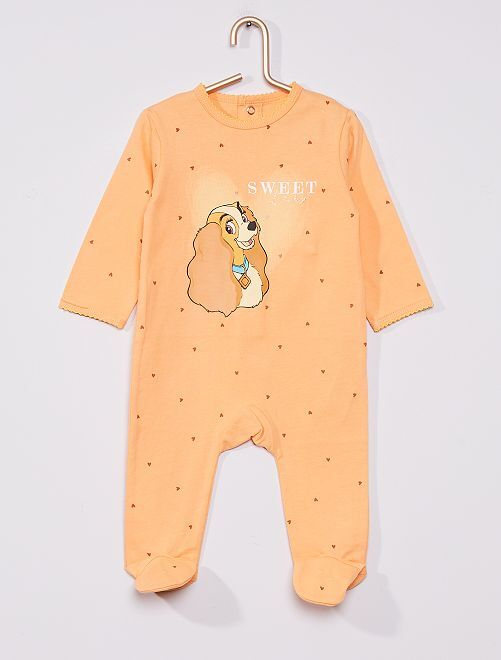 Pyjama 'la belle et le clochard' de 'Disney'                                                     orange