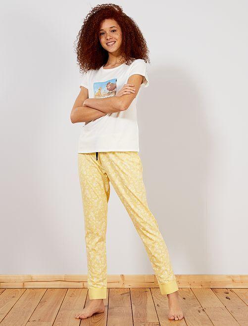 Pyjama 'Le Roi Lion'                                                                             jaune Lingerie du s au xxl
