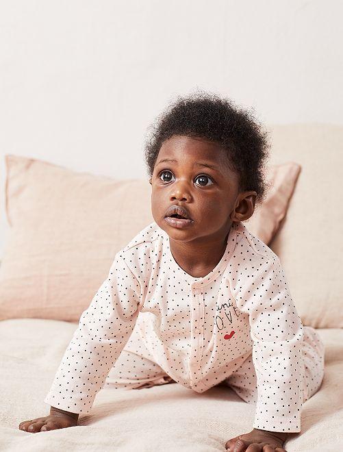 Pyjama léger en jersey                                 rose Bébé fille