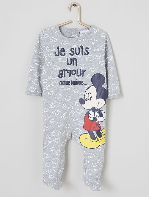 Pyjama léger 'Mickey'                                         gris chiné