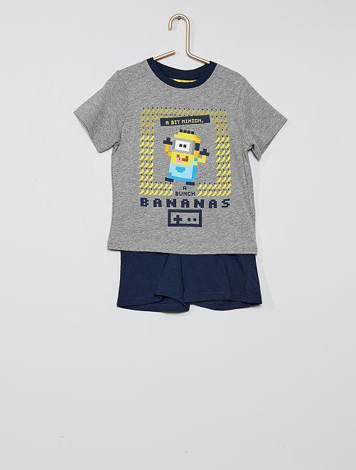 Pyjama 'Les Minions'                                         gris/marine