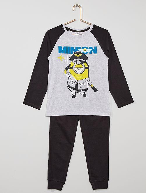 Pyjama 'Les Minions'                             noir/gris