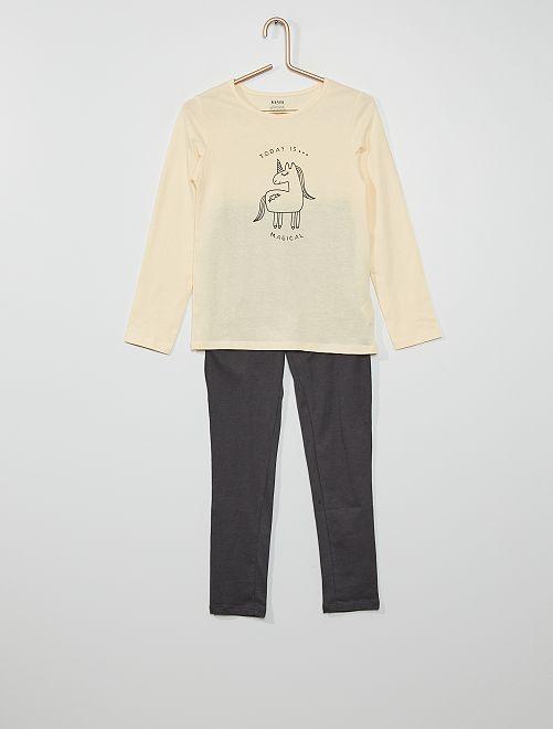 Pyjama 'licorne'                                                                                         écru