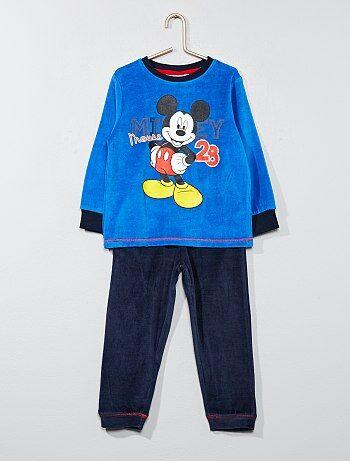 Pyjama long 2 pièces 'Mickey Mouse' - Kiabi