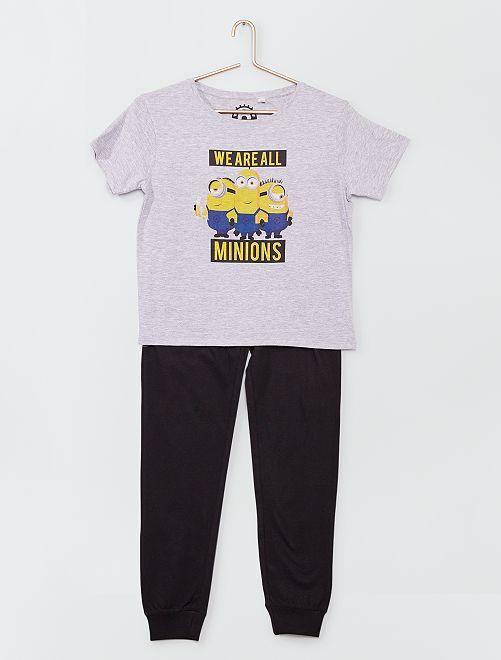 Pyjama long 2 pièces 'Minions'                             gris