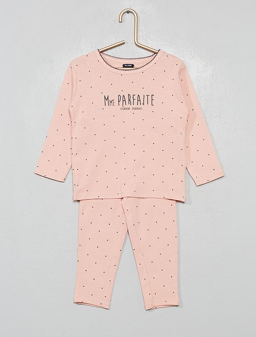 Pyjama long 2 pièces                                                                 rose/pois
