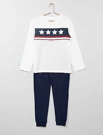 Pyjama long avec imprimé - Kiabi