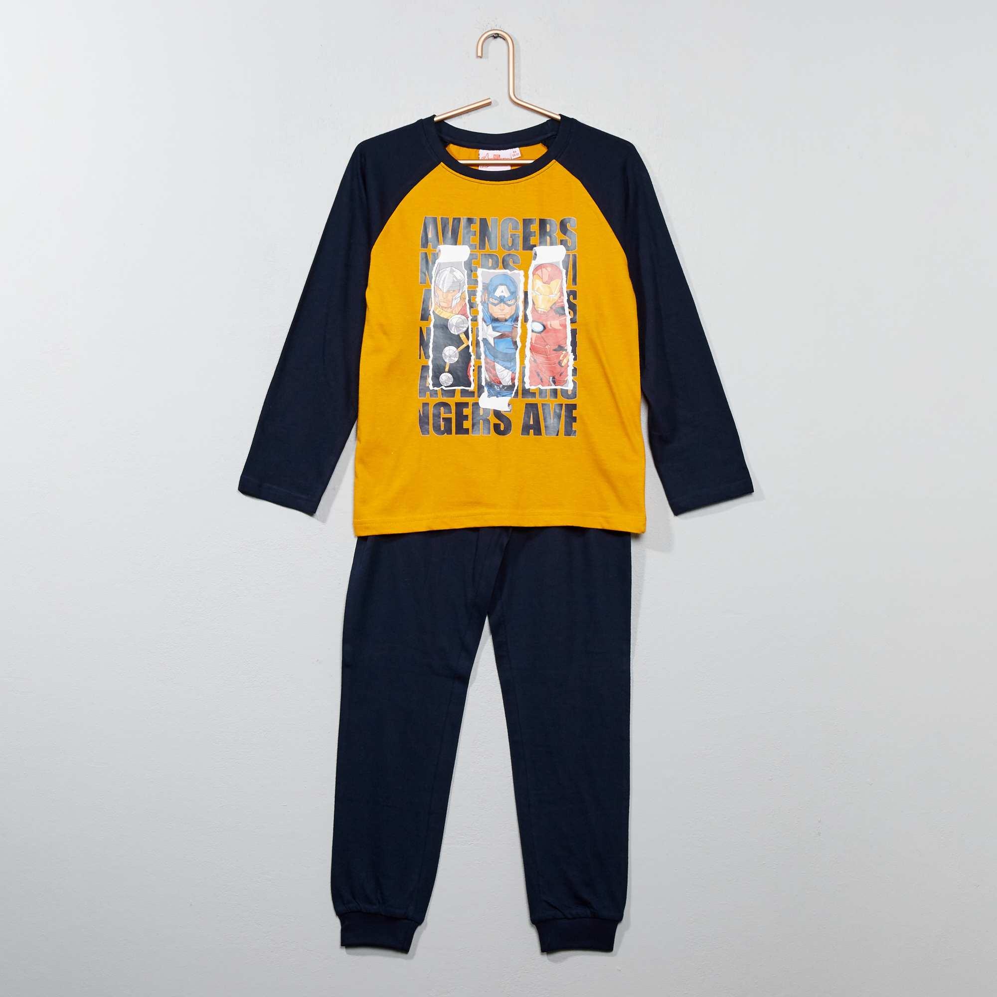 Couleur : jaune, , ,, - Taille : 12A, 3A, 5A,6A,10AUn super pyjama avec tes héros préférés ! - Pyjama long en jersey 'Avengers' de
