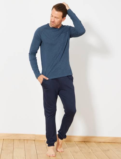 Pyjama long                                         bleu canard/bleu pétrole