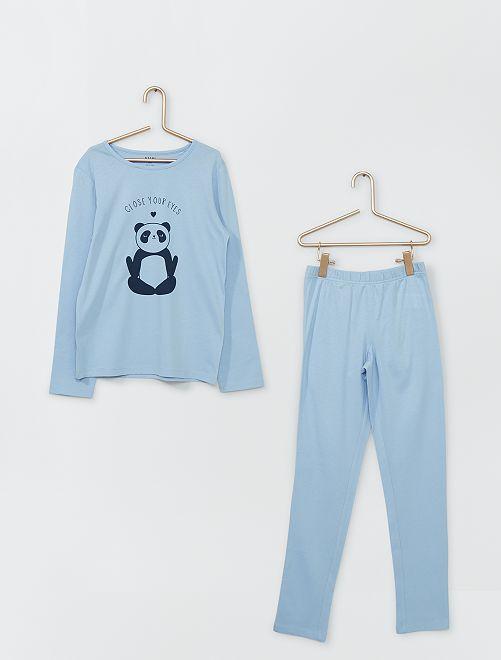 Pyjama long                                                                                         bleu