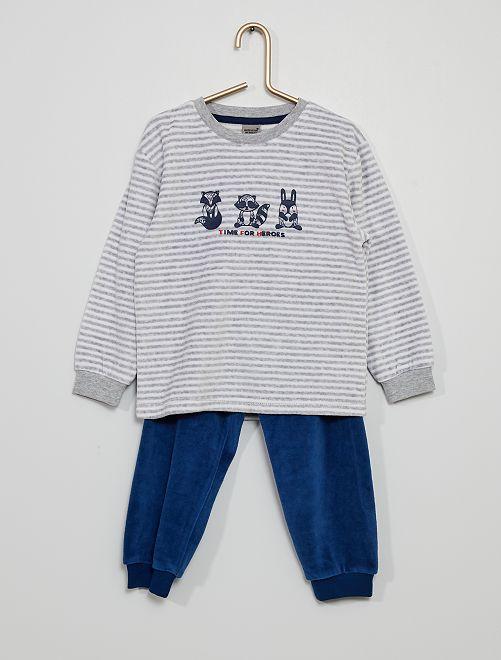 Pyjama long                             bleu marine