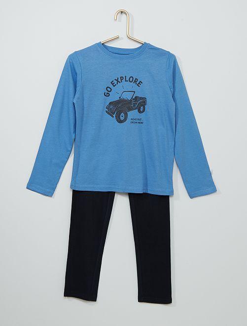 Pyjama long                                                                                         bleu moyen/marine