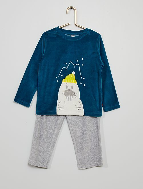 Pyjama long                                         bleu/gris