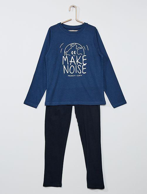 Pyjama long                                                                                         bleu/noir