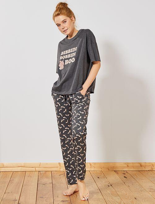 Pyjama long 'Marie'                                 gris Cendrillon