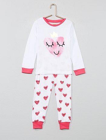 22d6424a91753 Fille 3-12 ans - Pyjama long  cœur  - Kiabi