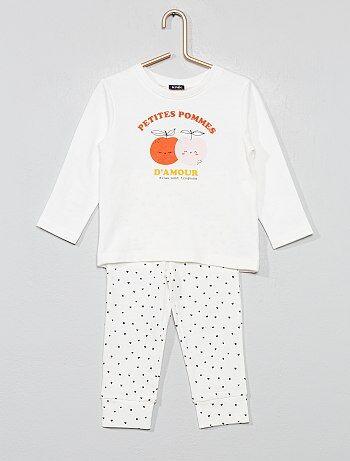 fe0e140175e42 Fille 0-36 mois - Pyjama long  cœur  - Kiabi