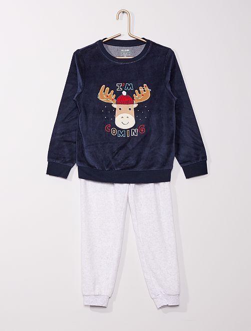 Pyjama long éco-conçu                                                                                         bleu caribou