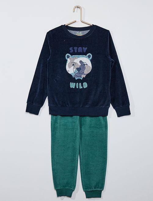 Pyjama long éco-conçu                                                                                         bleu ours