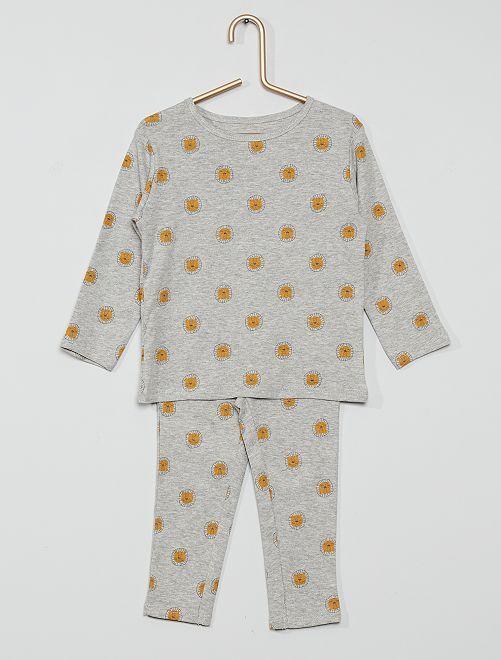 Pyjama long éco-conçu                                                     gris