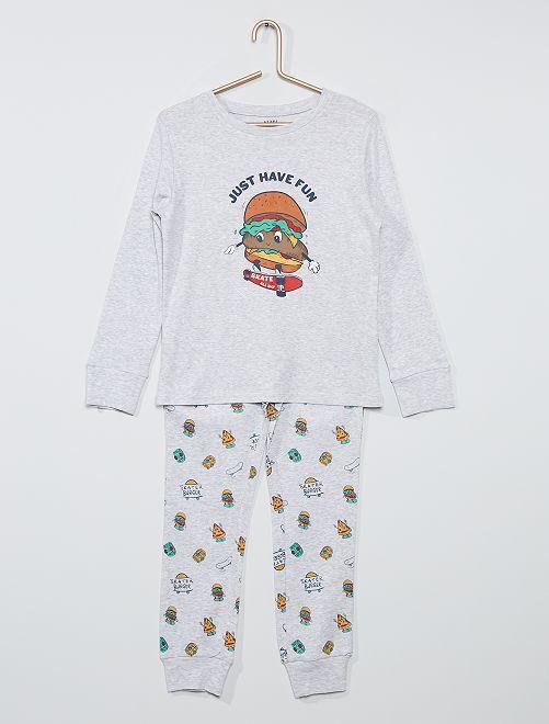 Pyjama long éco-conçu                                                                                                     gris burger