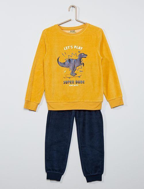 Pyjama long éco-conçu                                                                                         jaune