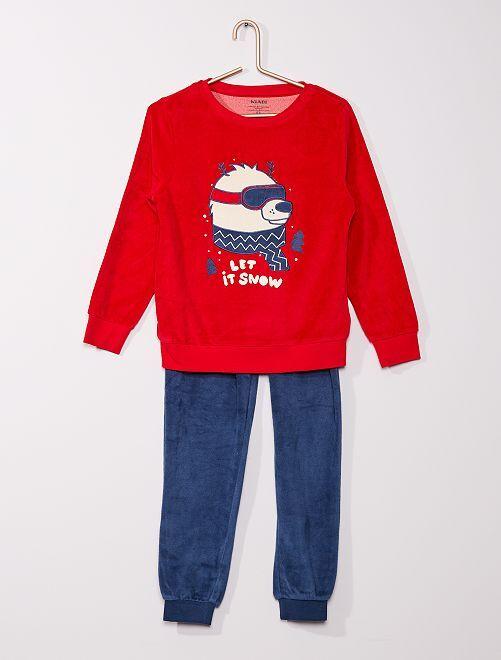 Pyjama long éco-conçu                                                                                         rouge