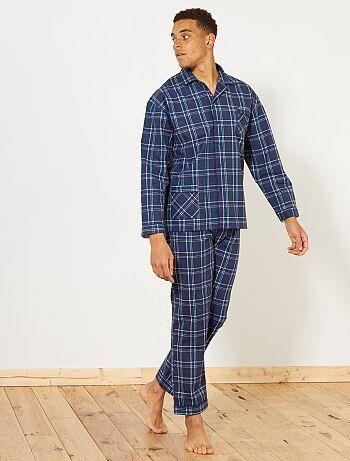 Pyjama long en flanelle - Kiabi