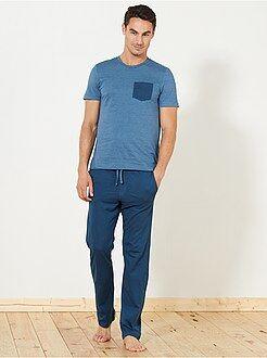 Pyjama, peignoir - Pyjama long en jersey - Kiabi