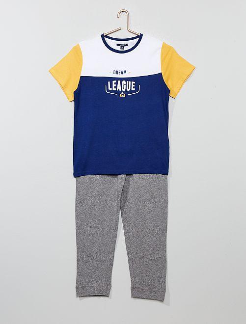 Pyjama long en jersey                                         bleu/jaune
