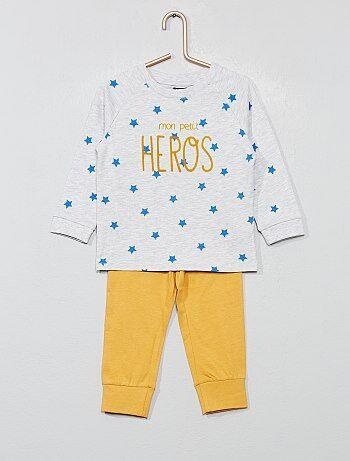 9759d84b112a0 Garçon 0-36 mois - Pyjama long en jersey - Kiabi