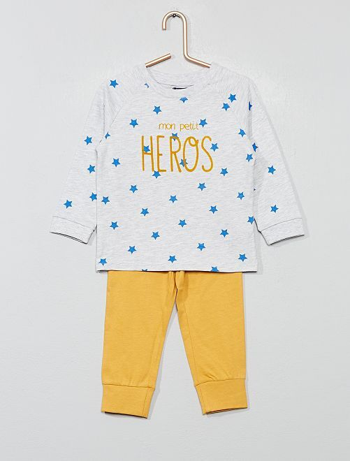 Pyjama long en jersey                                         gris Bébé garçon