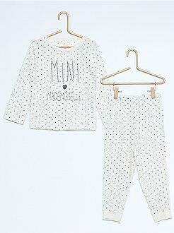 Pyjama, peignoir - Pyjama long en jersey imprimé