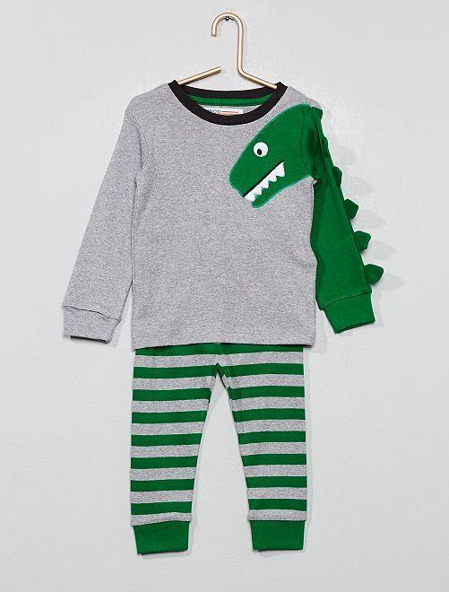 Pyjama long en jersey 'Minoti'                             vert Bébé garçon