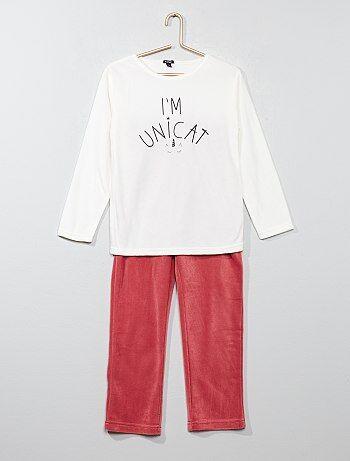 Pyjama long en polaire