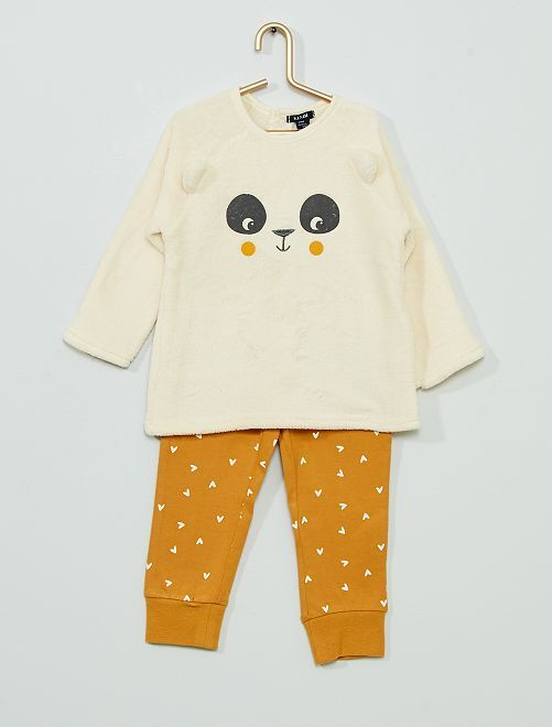 Pyjama long en polaire                                             jaune