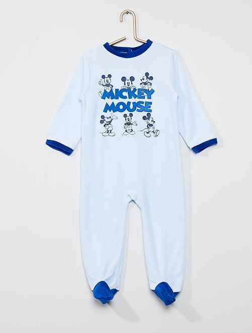 Pyjama long en polaire 'Mickey Mouse' de 'Disney'                                         bleu