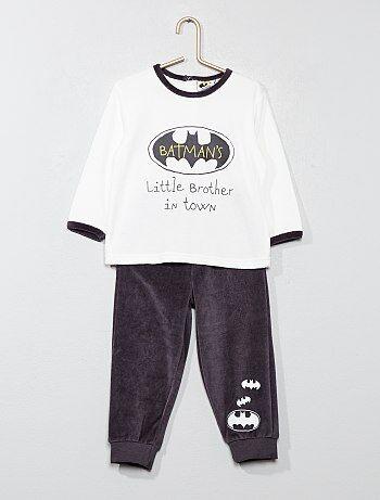 Pyjama long en velours 'Batman' - Kiabi