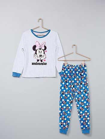 Pyjama long en velours 'Minnie' - Kiabi