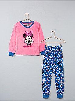 Pyjama, peignoir - Pyjama long en velours 'Minnie' - Kiabi